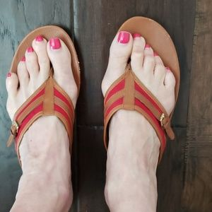 Ralph Lauren sandals size 11 red and Brown